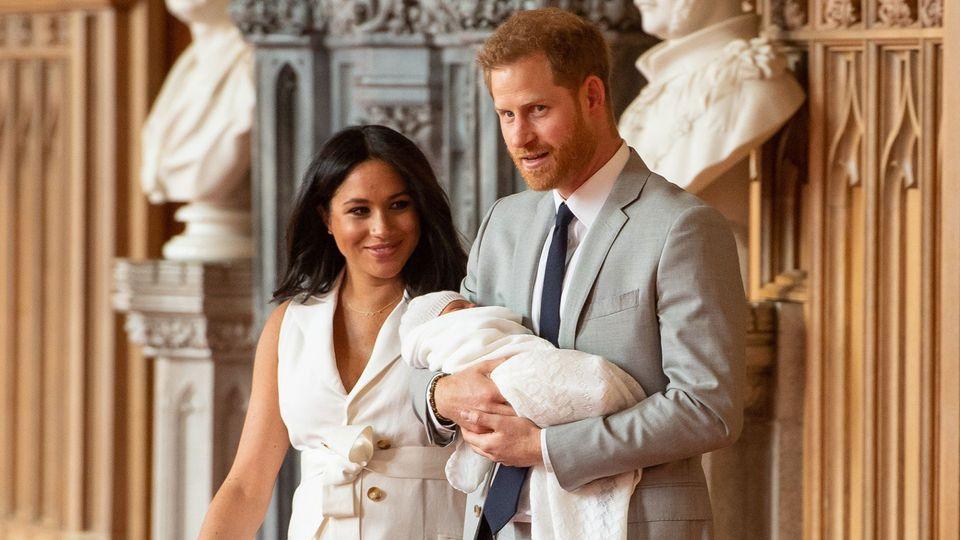 """Herzogin Meghan freudestrahlend """"Ich habe die zwei besten Jungs!"""