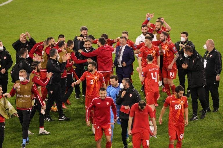 """Nordmazedonien feiert 2:1-Sieg gegen DFB-Elf: """"Es ist verrückt"""""""
