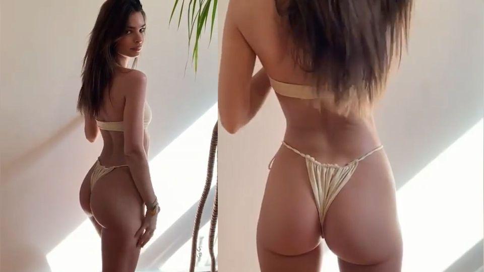 Perfekte Rundungen: Emily Ratajkowski zelebriert die Bikinisaison