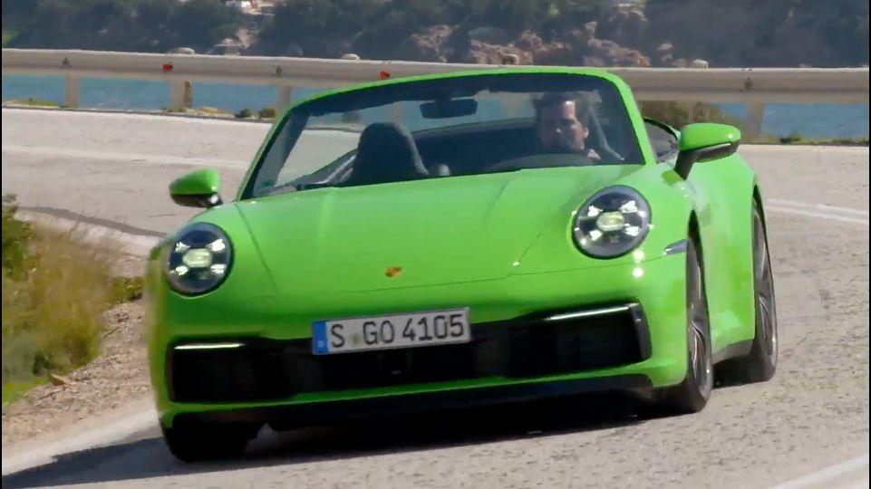 Es gibt einen tollen Blickfang am neuen Porsche 911 Carrera Cabriolet