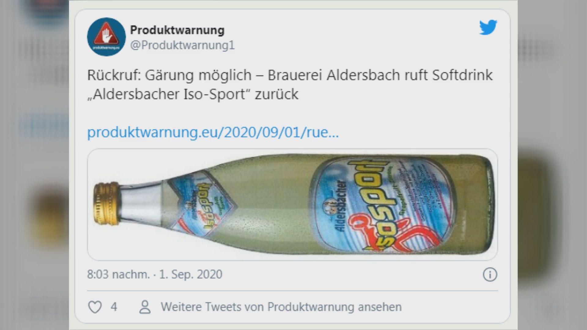 Getränke-Rückruf: Brauerei aus Bayern warnt vor Verletzungsgefahr – Flaschen können plötzlich bersten