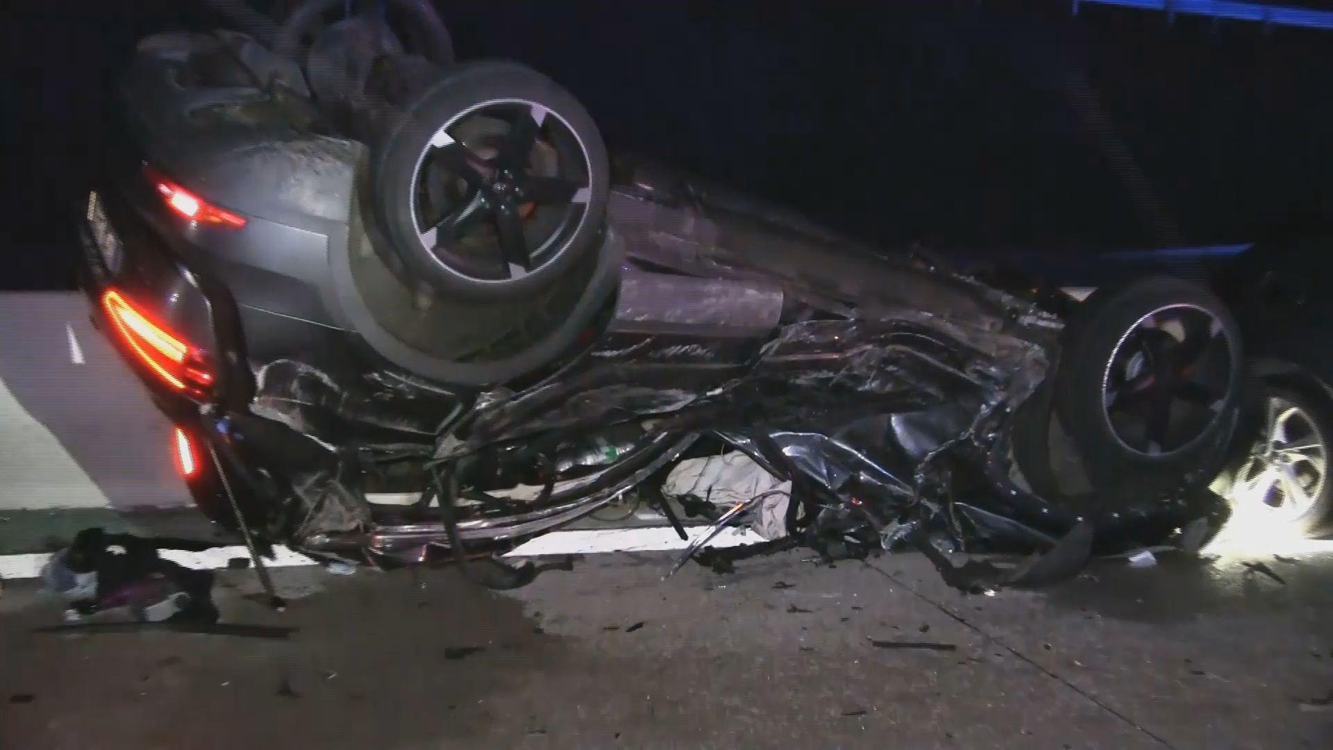 Heftiger Unfall mit vier Autos auf A94