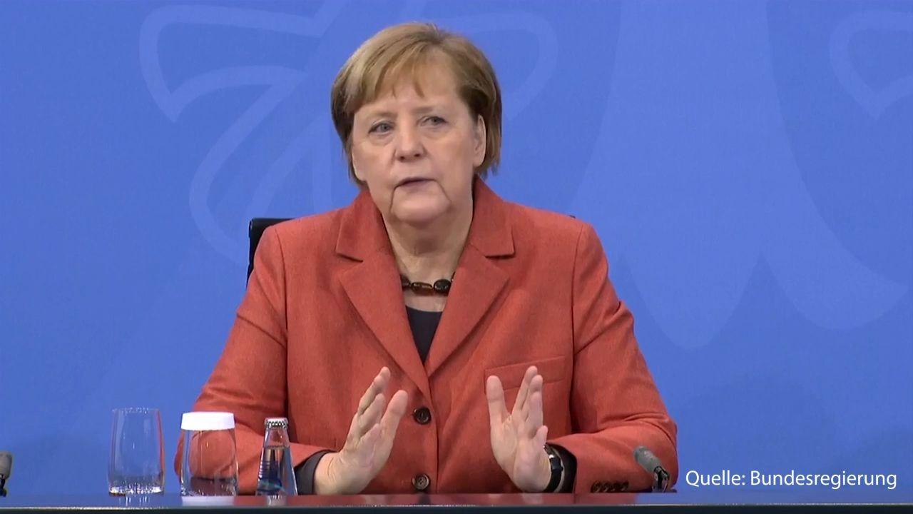 Video  Hier verkündet Angela Merkel den Knallhart-Lockdown