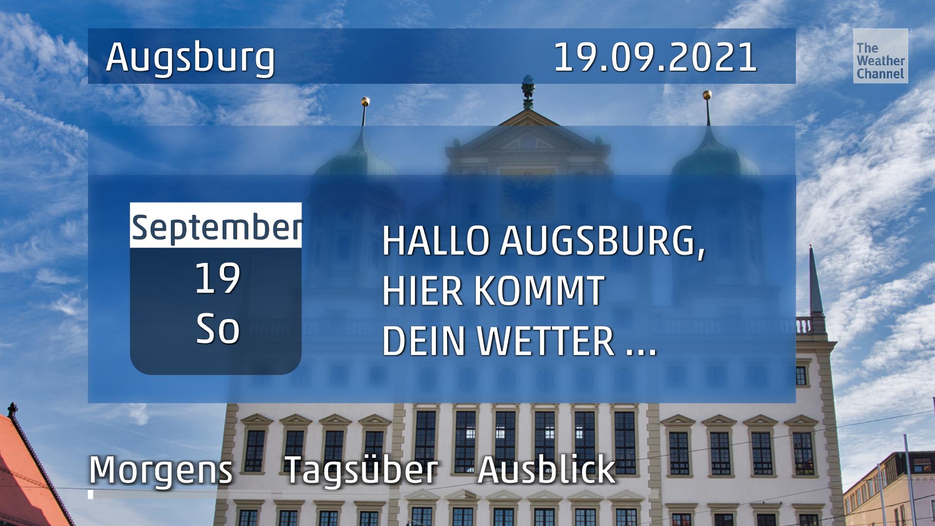 Das Wetter für Augsburg am Sonntag, den 19.09.2021