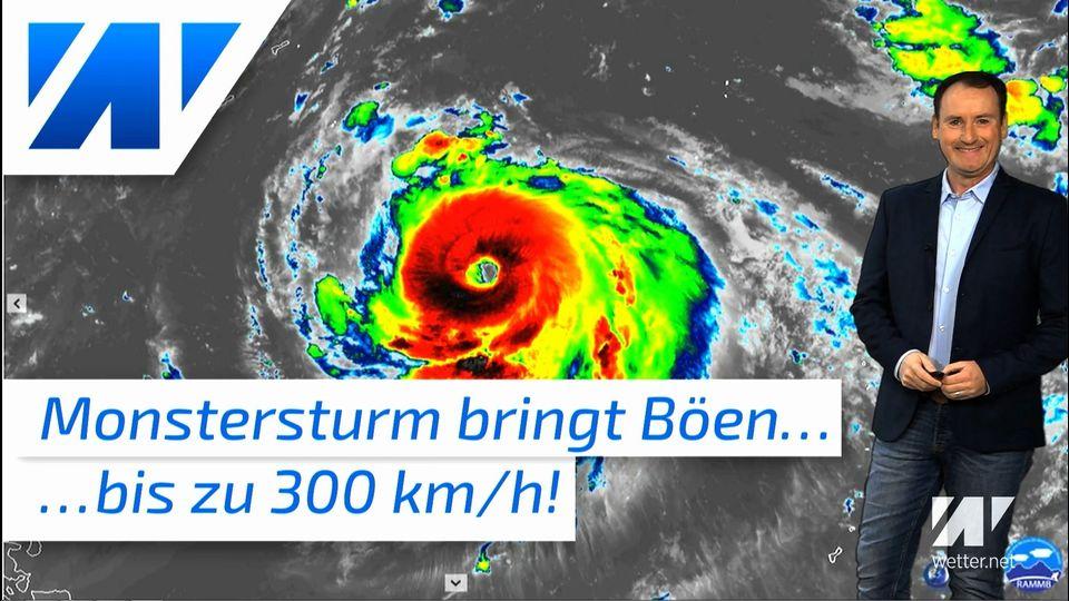 Monstersturm bringt Böen bis 300 km/h und sintfluartige Regenfälle!