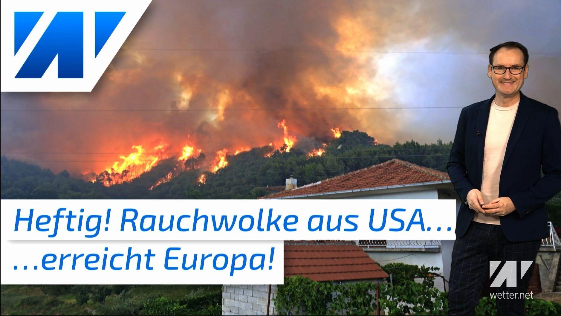 Gruselig: US-Waldbrände verdunkeln Europas Himmel