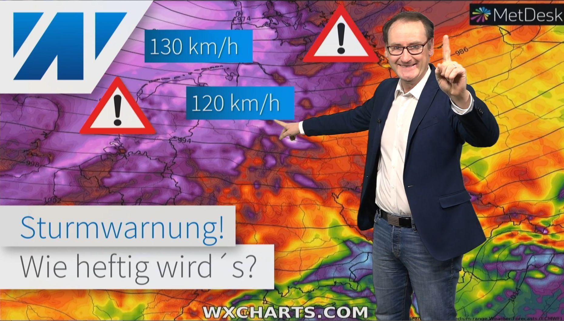 Unwetter durch schweren Sturm! Hier wird es nächste Woche gefährlich!