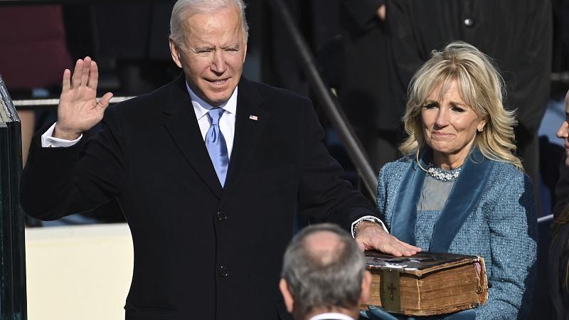 Joe Biden und Kamala Harris als Präsident und Vize-Präsidentin der USA vereidigt